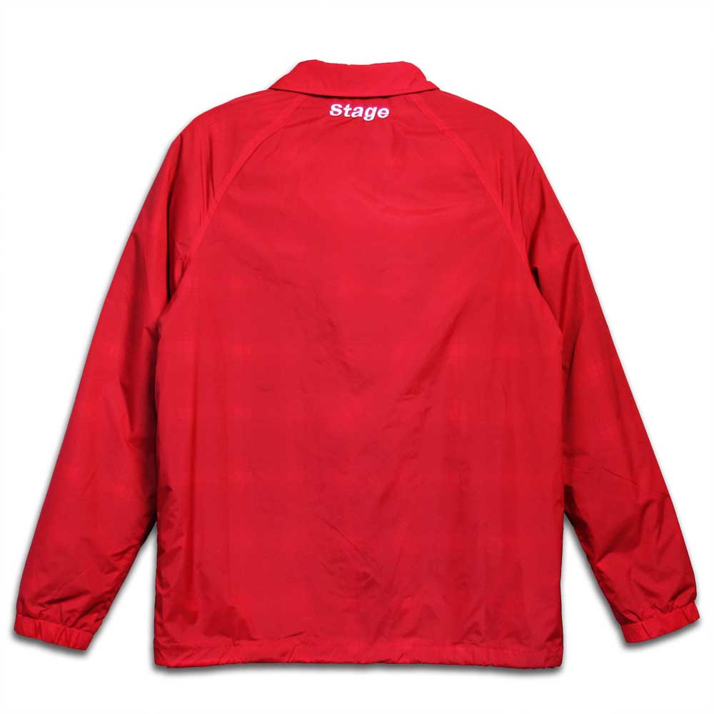 STAGE CREW COACH JACKET 黑色 / 紅色 8