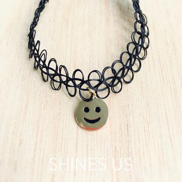 【SHINES US】正韓 表情符號頸鍊(3種表情)