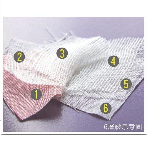 Baby City娃娃城 - 六層紗包巾 (粉) 2