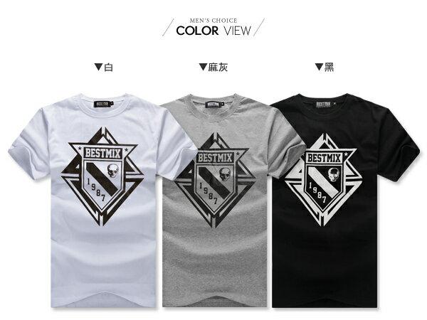 ☆BOY-2☆【ND5475】短袖T恤型男潮流美式素面骷髏星星印花短T 1