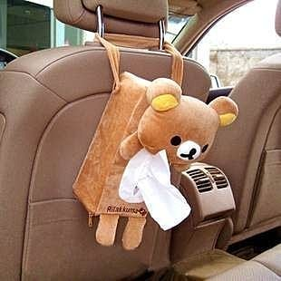 =優生活=((出清特價))日單拉拉熊 懶懶熊車用面紙套 抽紙盒套 掛式面紙套