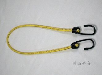 [ JIA LORNG 嘉隆 ] 100cm 強力彈性拉繩 黃 / 鬆緊繩 / 機車帶 / TP-321