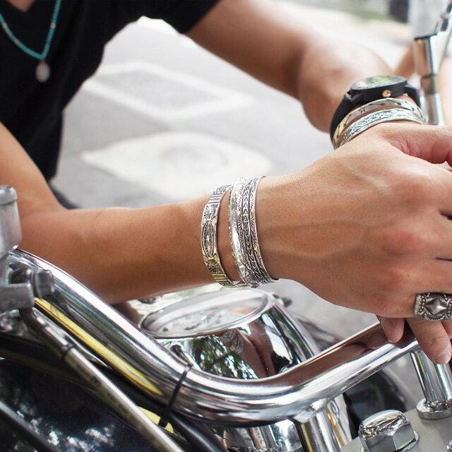 【現貨商品】【Indian Jewelry】印地安圖騰三角形手鐲(花紋隨機出貨)(Navajo-040) 1