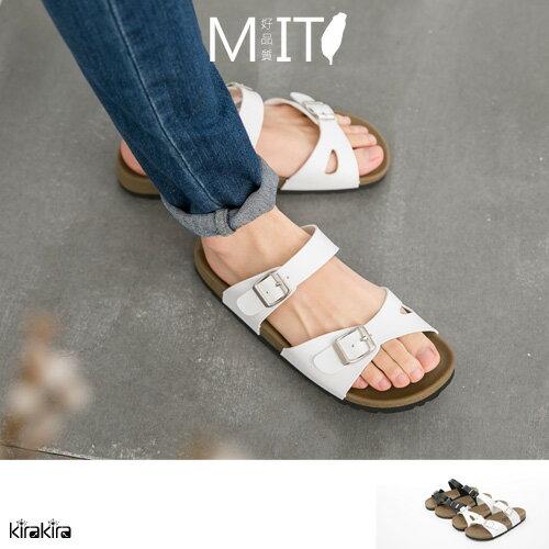 懶人鞋  SALE kirakira輕盈靈動簍空兩排釦輕量軟底平底拖鞋MIT【011500946】