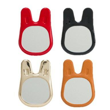 【Limiteria】iphone7 android手機 兔子造型玻璃貼鏡 可重複黏貼 無殘膠 紅 咖啡 金 黑4色供選擇 隨時注意自己儀表妝容不失真