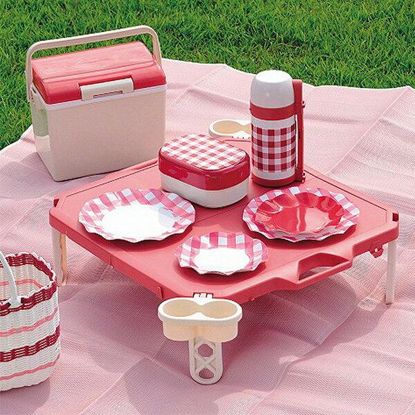 Pearl 日式摺疊野餐桌(紅) 1