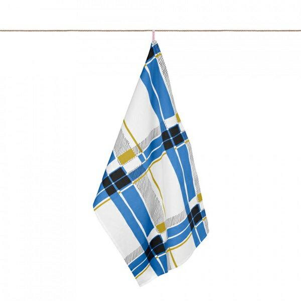 《法國 La Cocotte Paris》Blue Tartan Tea Towel 茶巾 0