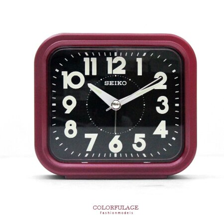 SEIKO日本精工 傳統型寧靜夜晚靜音紅色鬧鐘 品質穩定夜光功能 柒彩年代【NE1484】原廠公司貨 0