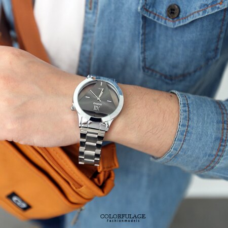 手錶 鏤空倒三角金屬腕錶 獨特設計中性款男女皆可 禮物首選 柒彩年代【NE1550】 0