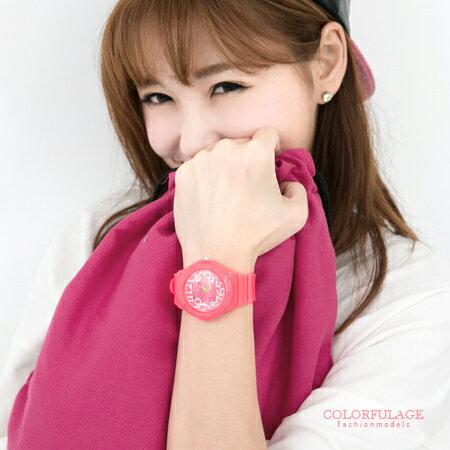 手錶 立體俏皮數字鮮艷螢光指針腕錶 運動潮流新單品 可自行搭對錶 柒彩年代【NE1579】單支售價 0