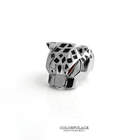 戒指 紅眼幾何豹紋斑點立體鋼製戒指 厚實質感 絕不可錯過的必敗款 柒彩年代【NC180】型男指環 0