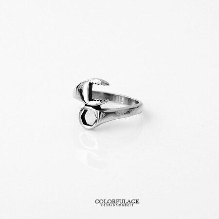 戒指 俏皮巧思創意螺絲起子造型白鋼戒指 不易氧化退色.抗過敏 柒彩年代【NC181】中性單品 0