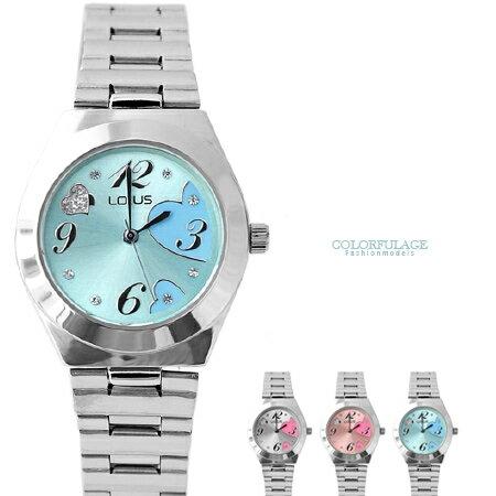 手錶 可愛俏皮愛心奧地利水鑽不鏽鋼腕錶 知性都會風格  柒彩年代【NE1520】單支 0