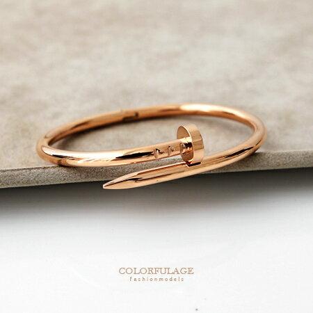 手環手鍊 特色螺絲釘造型C字卡榫式手環 特色螺絲釘造型 好搭配的色系【NA334】單個 0