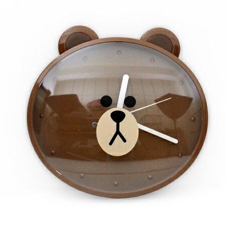 時鐘 超人氣LINE熊大大頭造型掃秒掛鐘 經典卡通可愛居家風 台灣製造 柒彩年代【NE1521】創意家飾 0