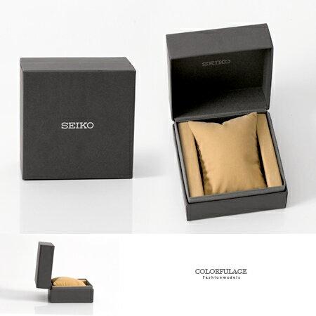 SEIKO原廠手錶禮盒 硬挺材質保護商品突顯質感 收藏/送禮最佳選擇 柒彩年代【NE464】深灰經典呈現
