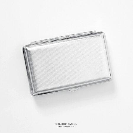 香菸盒 搶眼素面亮銀造型煙盒 潮流個性中性單品 輕巧時尚 柒彩年代【NL145】禮物首選 0