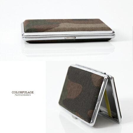 香菸盒 獨特布面迷彩風格造型煙盒 個性中性單品 輕巧時尚 柒彩年代【NL146】禮物首選 - 限時優惠好康折扣