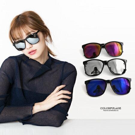 百搭素面粗膠方框太陽眼鏡 韓系墨鏡 中性男女都適合 柒彩年代【NY278】抗UV400 0
