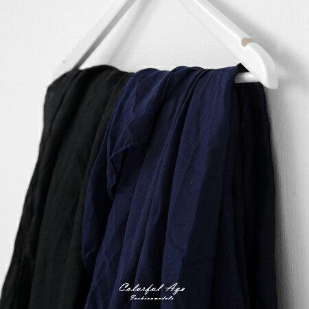圍巾 棉麻純色大絲巾 柒彩年代【NMD1】 - 限時優惠好康折扣