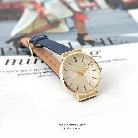 手錶 時尚簡約氣質女孩金殼腕錶 細版緞面皮革錶帶 小資女孩風格 柒彩年代【NE1681】 - 限時優惠好康折扣