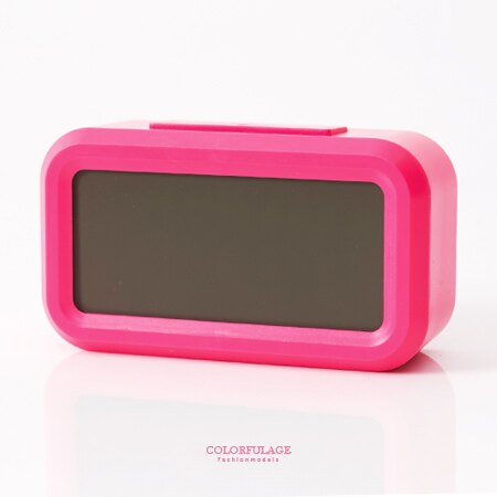 鬧鐘 鮮艷桃紅LCD大數字呈現 語音報時感光聰明鐘 溫度.貪睡多功能 柒彩年代【NV3】創意配件 - 限時優惠好康折扣