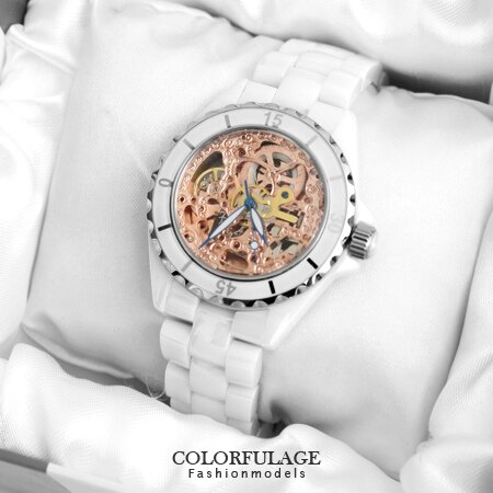 Valentino范倫鐵諾 高精密全陶瓷自動上鍊機械手錶腕錶 藍寶石鏡片 柒彩年代【NE1208】單支價格 0