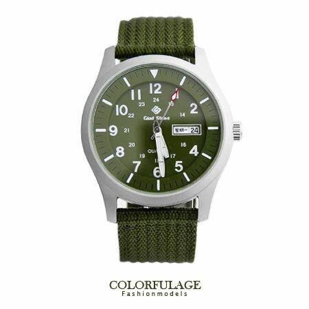 尼龍帆布手錶 SEIKO精工VX43石英機芯 帥氣型男 錶盤夜光刻度帆布軍用腕錶【NE1259】柒彩年代 0