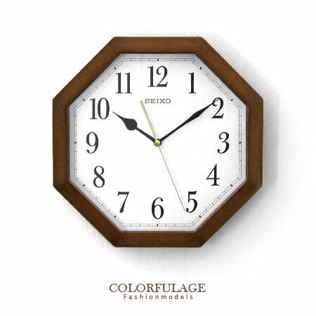 SEIKO精工時鐘 宇宙奧秘 仿木紋材質八卦造型掛鐘 滑動式靜音秒針 柒彩年代【NE1272】原廠公司貨 0