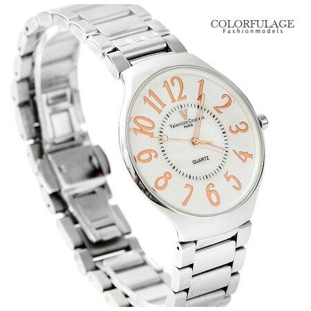 Valentino范倫鐵諾 超薄設計美學貝面波浪玫瑰金手錶腕錶 柒彩年代【NE1039】原廠公司貨 0
