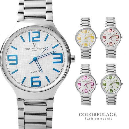 Valentino范倫鐵諾 超薄設計美學馬卡龍格紋數字手錶腕錶 柒彩年代【NE1040】原廠公司貨 0