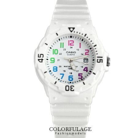 CASIO卡西歐 夏日繽紛全白電子手錶腕表 女孩小巧運動錶款 有保固 柒彩年代【NE1280】原廠公司貨 0
