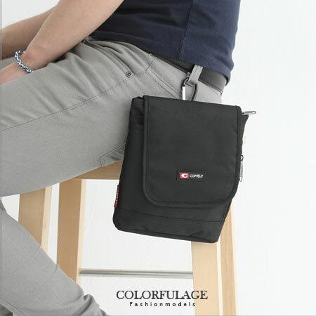 街頭腰包.掛包實用隨身側背包 型男潮流百搭低調黑色系 柒彩年代【NZ394】質感尼龍 0