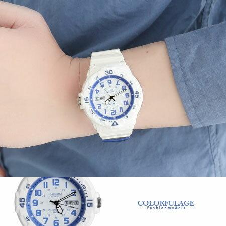 CASIO卡西歐 潛水運動風格白色手錶 休閒運動腕錶 防水100米 柒彩年代【NE1278】原廠公司貨