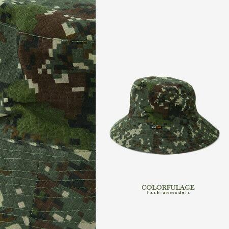 潮流迷彩漁夫帽 遮陽帽 野戰部隊 漆彈旅遊戶外都適合 柒彩年代【NH156】透氣棉料 0