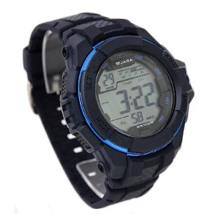 JAGA捷卡 藍色休閒運動多功能電子錶手錶 輕量無負擔 防水100米 柒彩年代【NE1303】原廠公司貨 0