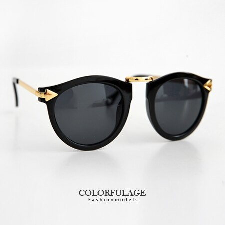 太陽眼鏡 個性金屬雙箭頭造型墨鏡 獨特性十足抗UV400 防晒必備 柒彩年代【NY270】單支價格 0