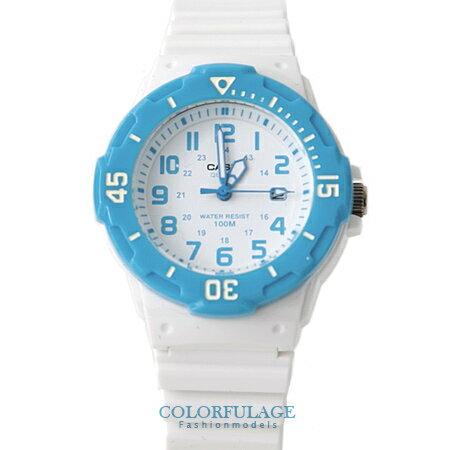 CASIO卡西歐 天空藍白色系電子手錶腕表 女孩小巧運動錶款 有保固 柒彩年代【NE1329】原廠公司貨 0
