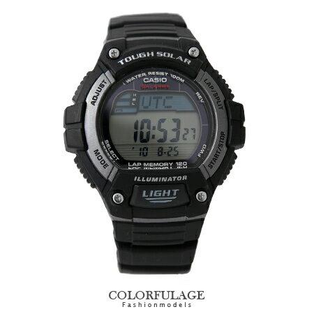 CASIO卡西歐 環保太陽能錶盤 低調時尚黑電子手錶.腕錶 旅程突破 防水100米 柒彩年代【NE1340】原廠 0