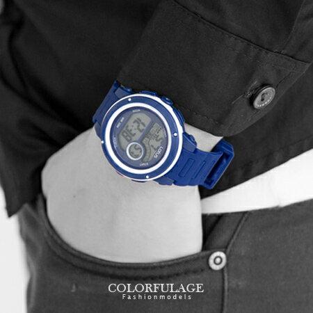 手錶 撞色美學 多功能炫彩電子膠錶.腕錶 運動休閒必搭單品 中性款 柒彩年代【NE1305】單支 0