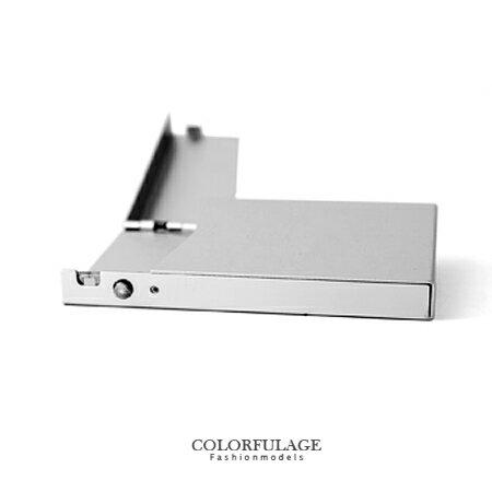 香菸盒 簡潔優美金屬自動彈蓋式煙盒 俐落大方型男單品 二色可選 柒彩年代【NL133】輕巧超薄 0