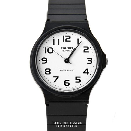 CASIO卡西歐經典基本款手錶 黑白對比配色中性款腕錶 超輕巧設計 柒彩年代【NE1335】原廠公司貨 0