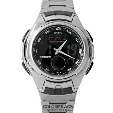CASIO日本卡西歐手錶 指針數位雙顯示多功能腕錶 100M防水設計 柒彩年代【NE1339】原廠公司貨 0