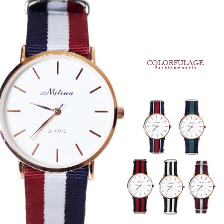 北極簡約尼龍手錶 休閒品味 中性男女都可以配戴腕錶 柒彩年代【NE1389】單支 0