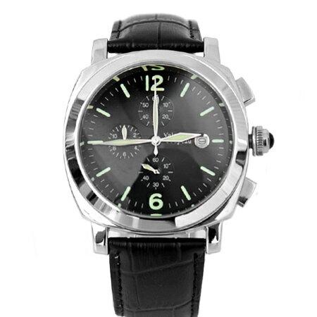 Valentino范倫鐵諾 三眼計時典藏款真皮手錶 日期窗功能 柒彩年代【NE1319】 0