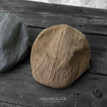 英倫元素毛呢毛線編織帽鴨舌帽 扁帽 紳士帽 小偷帽 保暖防風畫家帽 柒彩年代【NH171】超有個性 0
