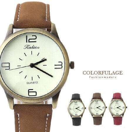 簡約數字復刻潮流百搭手錶 大小款式多色可選 中性皮革腕錶  柒彩年代【NE1365】單支 0