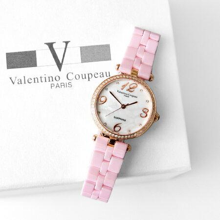 范倫鐵諾Valentino 精密全陶瓷玫瑰金數字刻度珍珠貝面手錶 原廠公司貨 柒彩年代【NE1400】單支價格 0