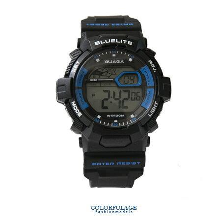 JAGA捷卡 戰鬥型多功能電子手錶 防水高達100米 型男必搭錶 柒彩年代【NE1412】單支售價 0