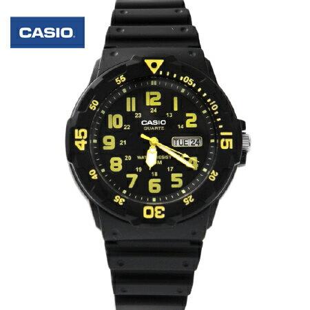 CASIO卡西歐 鮮豔亮黃 軍裝手錶 休閒 腕錶 防水100米 柒彩年代~NE1427~